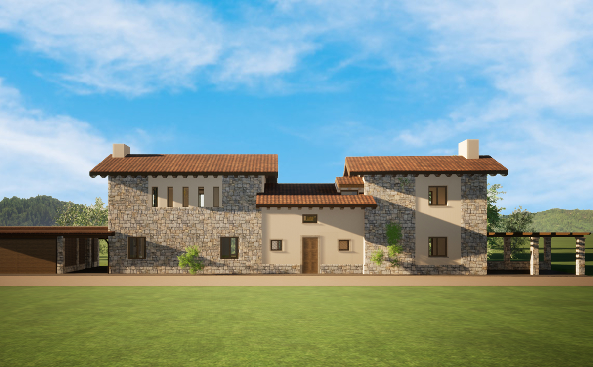 Progetto casale studio di architettura Varese