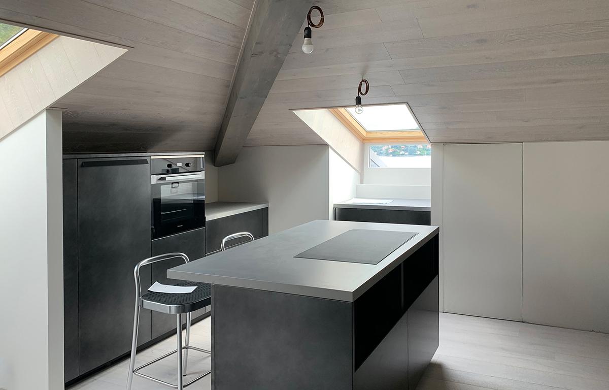 Progetto attico arona studio di architettura Varese